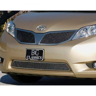 E&G Classics® - 2-Pc Black Ice Fine Mesh Main and Bumper Grille Kit