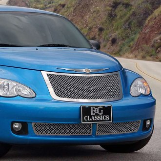 E&G Classics® - Chrome Heavy Mesh Main and Bumper Grille Kit