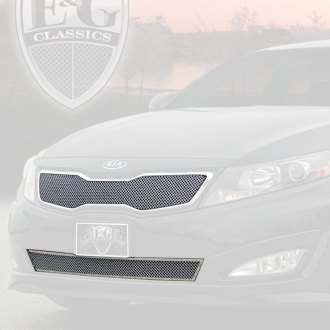 E&G Classics® - 2-Pc Chrome Fine Mesh Main and Bumper Grille Kit