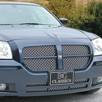 E&G Classics® - 3-Pc Chrome Dual Weave Mesh Main and Bumper Grille Kit