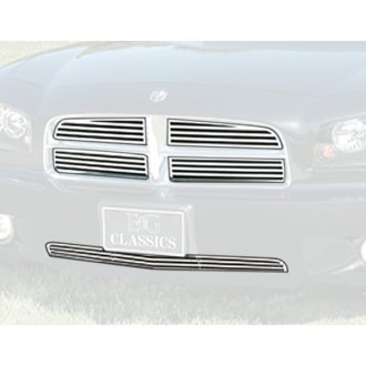 "E&G Classics® - 5-Pc ""Q"" Style Polished CNC Machined Main and Bumper Grille Kit"