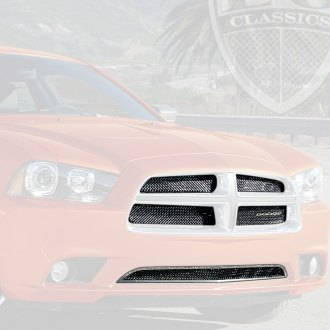 E&G Classics® - 5-Pc Black Ice Fine Mesh Main and Bumper Grille Kit