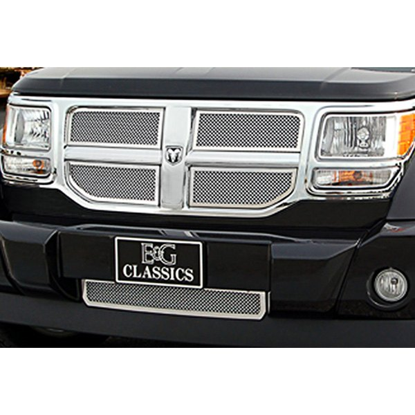 E&G Classics® - 5-Pc Chrome Plated Fine Mesh Main and Bumper Grille Kit