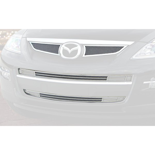 E&G Classics® - 4-Pc Chrome Plated Fine Mesh Main and Bumper Grille Kit