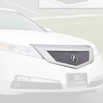 Acura TL Custom Grilles Billet Mesh CNC LED Chrome Black - Acura tl aftermarket headlights