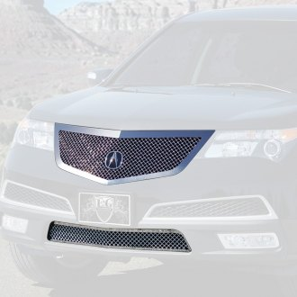 Acura MDX Custom Grilles Billet Mesh LED Chrome Black - Acura mdx front grill