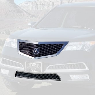 Acura MDX Custom Grilles Billet Mesh LED Chrome Black - Acura mdx replacement parts