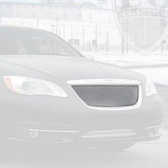 2012 Chrysler 200 Grill >> Chrysler 200 Custom Grilles Billet Mesh Cnc Led Chrome Black