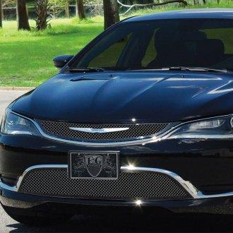 2015 Chrysler 200 Custom Grilles Billet Mesh Led Chrome Black