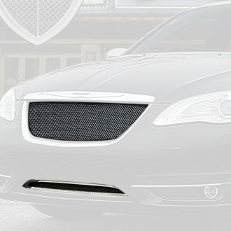 2012 Chrysler 200 Grill >> Chrysler 200 Custom Grilles Billet Mesh Cnc Led Chrome Black