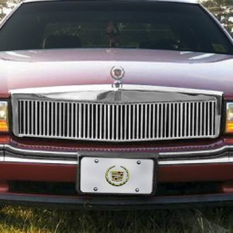 E&G Classics® - 1-Pc Classic Series Low Profile Silver Vertical Billet Main Grille