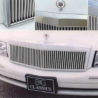E&G Classics® - 1-Pc Classic Series Low Profile Silver Vertical Wide Billet Main Grille