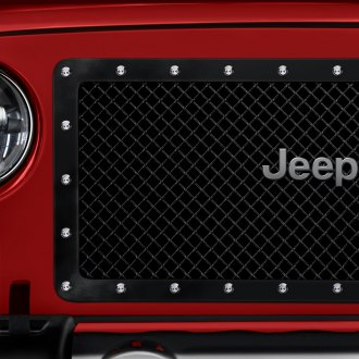 E&G Classics® - 1-Pc E-Power Series Open Style Gloss Black Heavy Mesh Main Grille