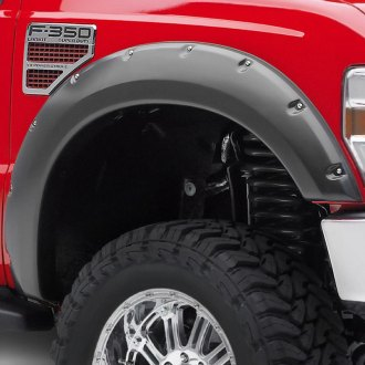Image may not reflect your exact vehicle! EGR® - Bolt-On Style Black Front Set Fender Flares