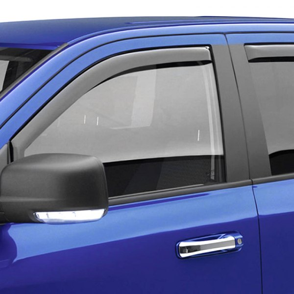 EGR Dark Smoke Front SlimLine In Channel Vent Visor Fits 2009-2018 Dodge Ram