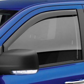 Image may not reflect your exact vehicle! EGR® - Front In-Channel Dark Smoke Window Visors