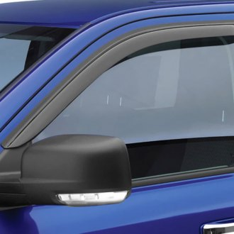 Image may not reflect your exact vehicle! EGR® - Front Tape-On Dark Smoke Window Visors
