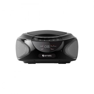 Ematic® - CD Bluetooth Boombox Black