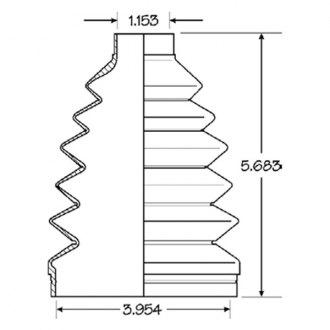 EMPI 86-2129D CV Joint Boot Kit