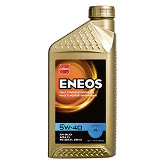 Eneos® - Fully Synthetic™ SAE 5W-40 Synthetic 1 Quart Motor Oil Bottle