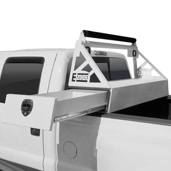 Dodge Performance Parts >> ENGO® - Dodge Ram 2013 Headache Rack with Side Slide Tool Box