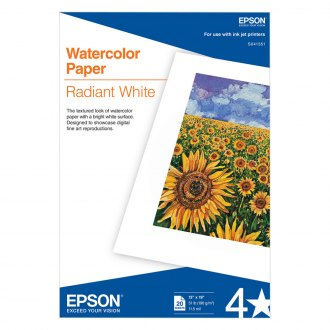 Epson® - Watercolor Radiant White Inkjet Paper, 13 x 19, 20/Pack, White