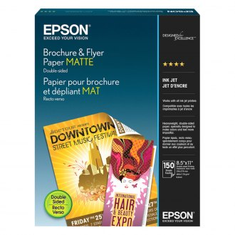"Epson® - 8.5"" x 11"" Brochure and Flyer Paper Matte"