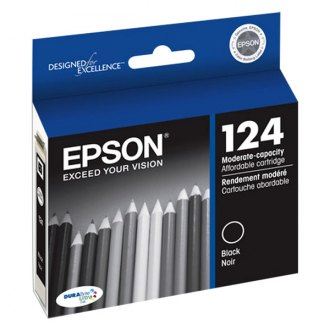 Epson® - 124 Black Ink Cartridge