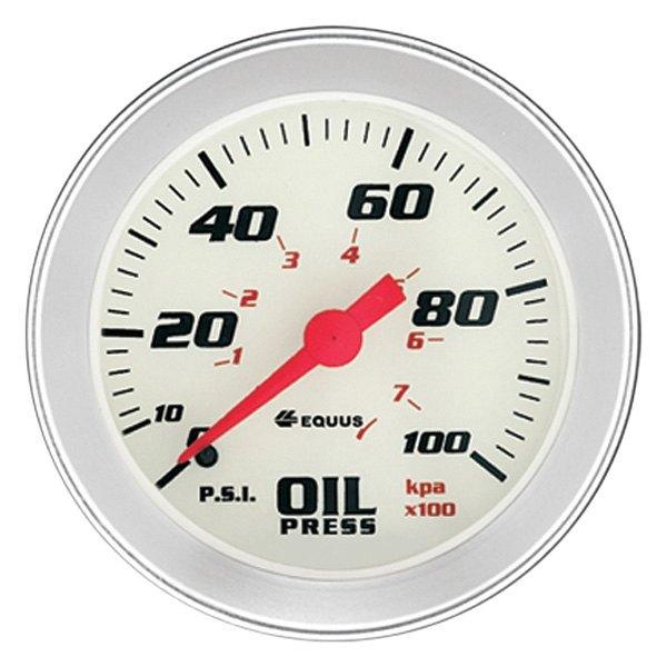 "Equus Engine Oil Pressure Gauge 8444; 8000 Series 0-100 psi 2-5//8/"" Mechanical"