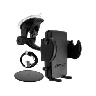 Escort® - Windshield/Dashboard Suction Cup Mount with iPhone 4 Charging Cable