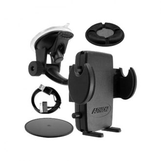 Escort® - Windshield/Dashboard Suction Cup Mount with Beanbag and iPhone 4 Charging Cable