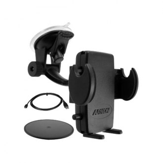 Escort® - Windshield/Dashboard Suction Cup Mount with Android Charging Cable