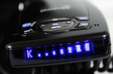 Escort Windshield Radar Detector With Blue Display
