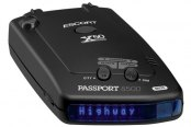 Escort� - Passport 8500X50 Windshield Radar Detector with Blue Display
