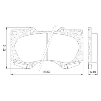 Euclid® - Front Disc Brake Pads