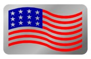 Eurosport Daytona® - USA Flag Logo on Stainless Steel Exhaust Enhancers