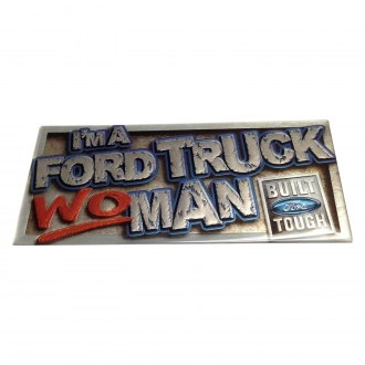 "Eurosport Daytona® - ""I'm A Truck WOMAN Ford Built Tough"" Ford Truck Logo Gels"