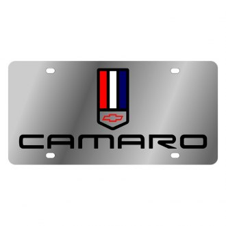 Eurosport Daytona® - GM License Plate with Camaro Logo and Tri Bar Chevrolet Emblem