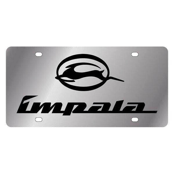 eurosport daytona174 gm license plate with impala logo and