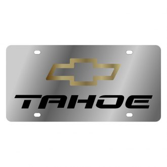 Eurosport Daytona® - GM License Plate with Tahoe Logo and Chevrolet Emblem