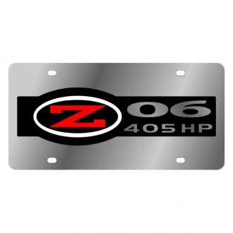 Eurosport Daytona® - GM License Plate with Corvette C5 Z06 Badge 405 HP Logo