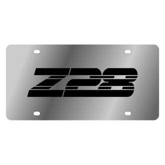 Eurosport Daytona® - GM Polished License Plate with Black Z28 Logo
