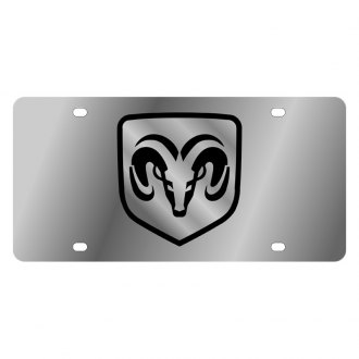 Eurosport Daytona® - MOPAR License Plate with Dodge Ram Framed Emblem