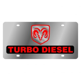 Eurosport Daytona® - MOPAR License Plate with Turbo Diesel Logo and Ram Emblem