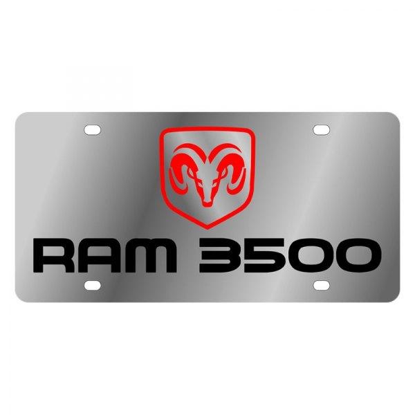 Dodge Ram framed License Plate on Black Steel Eurosport Daytona Inc.