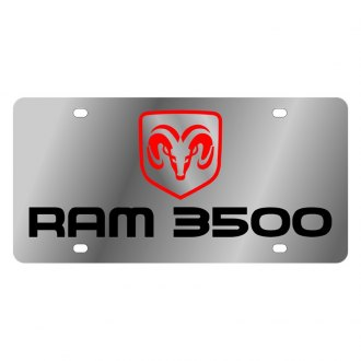 Eurosport Daytona® - MOPAR License Plate with Ram 3500 Logo and Dodge Emblem
