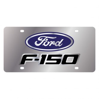 Eurosport Daytona® - Ford Motor Company Polished License Plate with F-150 New Logo and Ford Emblem with F-150 New Logo