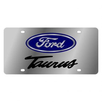 Eurosport Daytona® - Ford Motor Company Polished License Plate with Black Taurus Logo and Ford Emblem