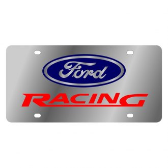 Eurosport Daytona® - Ford Motor Company License Plate with Black Ford Racing Logo