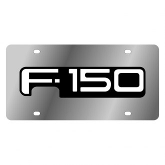 Eurosport Daytona® - Ford Motor Company Polished License Plate with Black F-150 Logo
